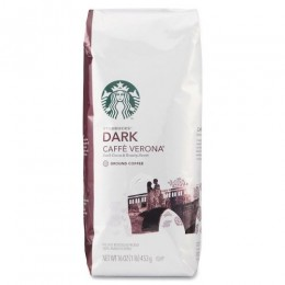 Starbucks Caffe Verona Ground Coffee, 1 lb Each, 6 Bags Total