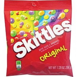 Skittles Original Peg Bags, 7.2 oz Each, 12 Bags Total