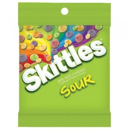 Skittles Sours Peg Bag 5.7 oz Each Bag, 12 Bags Total