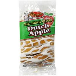 Cloverhill Big Dutch Apple Danish Claw 4.25oz Each Claws 36 Total