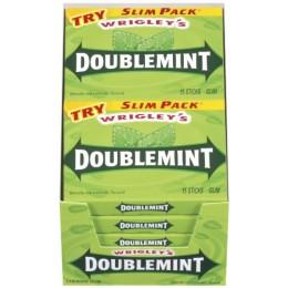 Wrigley's Doublemint Gum Slim Pack, 15 Sticks ea. 120 Total