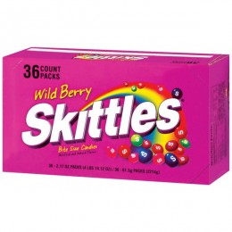 Skittles Wildberry, 2.17 oz Each, 10 Boxes of 36 Packs, 360 Total