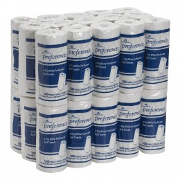Georgia-Pacific Preference 27300 White 2ply Perforated Paper Towel