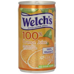 Welch's 100% Orange Juice, 5.5 oz Each, 48 Cans Total