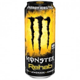 Monster Drink Energy Rehab Can 15.5 oz Each Can, 24 Cans Total