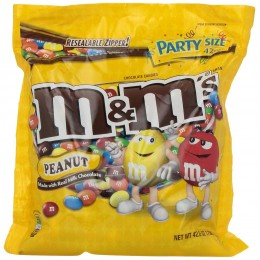 M & M's Peanut Butter Stand Up Pouch, 42 oz Each, 6 Pouches Total