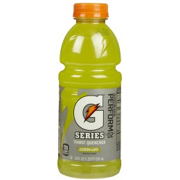 Gatorade Lemon Lime, 20 oz Each, 24 Bottles Total