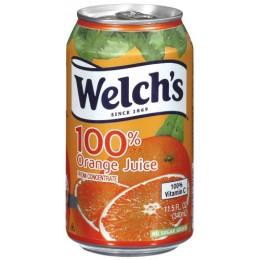 Welch's 100% Orange Juice, 11.5 oz Each, 24 Total