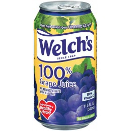 Welch's 100% Grape Juice, 11.5 oz Each, 24 Cans Total