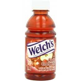 Welch's Apple Cranberry Juice, 10 oz Each, 24 Bottles Total