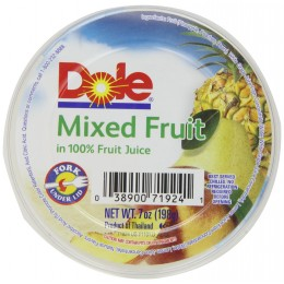 Dole Mixed Fruit Bowl in Light Syrup, 7 oz Each, 12 Bowls Total