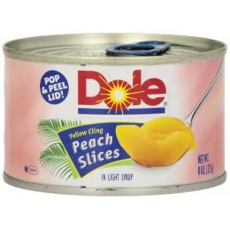Dole Peach Slices, 8 oz Each, 24 Cans Total