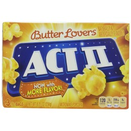 ACT II Butter Lovers Popcorn, 2.75 oz Each, 36 Bags Total