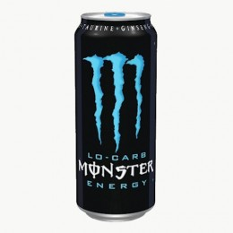 Monster Lo-Carb Energy Drink, 16 oz Each, 24 Cans Total