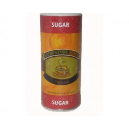 Grindstone Granulated Sugar Canister 20 oz Each Canister, 24 Canisters Total