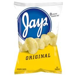 Jays Original Potato Chips, 1.25 oz Each, 56 Bags Total