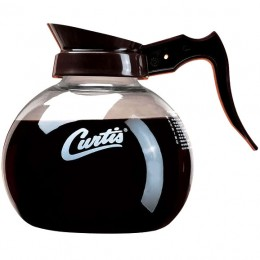 Curtis Glass Decanters - Brown/White Curtis 24/CS