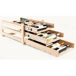 Wine Logic 18 Bottle In Cabinet Wine Rack Maple