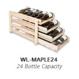 Wine Logic 24 Bottle In Cabinet Wine Rack Maple
