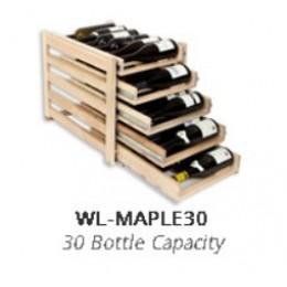 Wine Logic 30 Bottle In Cabinet Wine Rack Maple