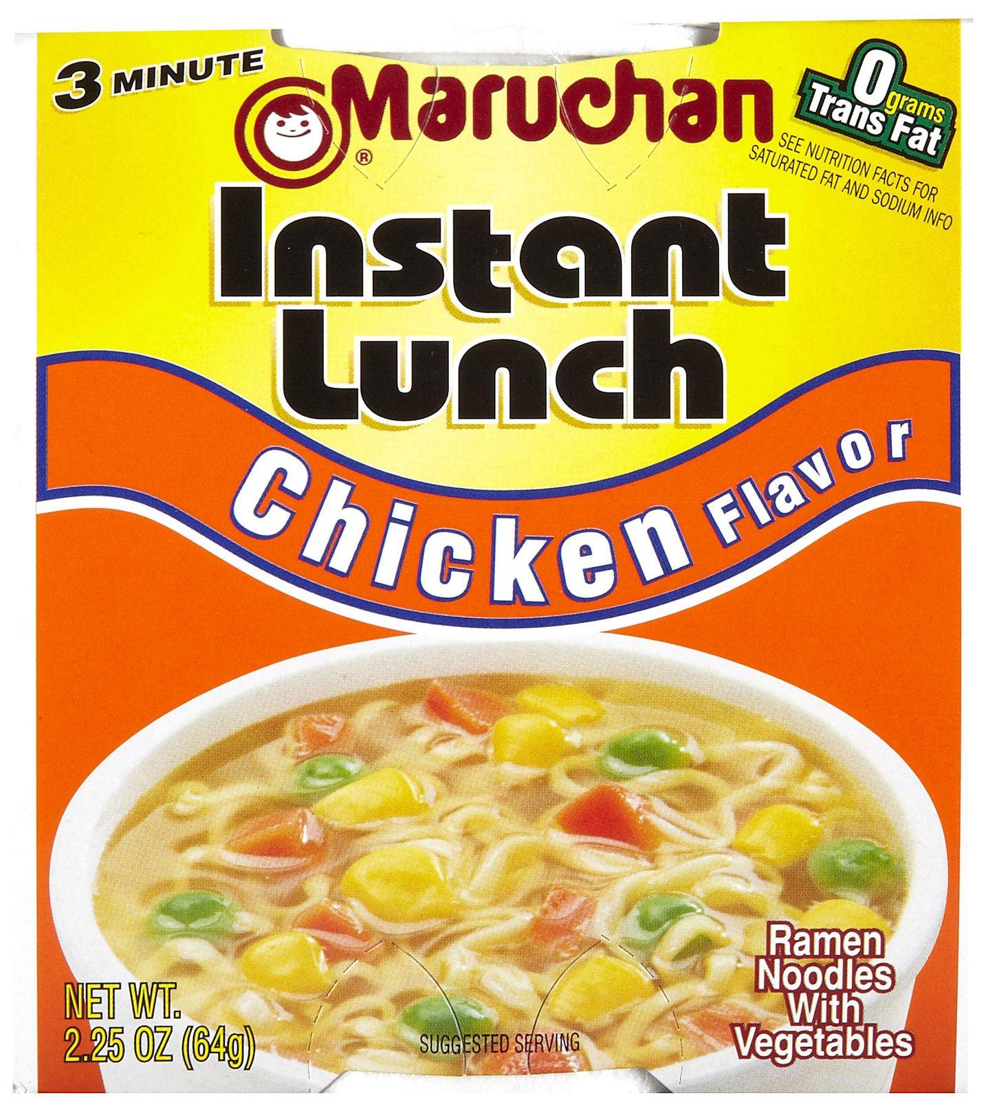 Maruchan 00121 Instant Lunch Chicken Flavor, 2.25 oz Each, 12 Total