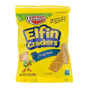 Keebler Elfin Crackers, 2.125 oz Each, 60 Bags Total